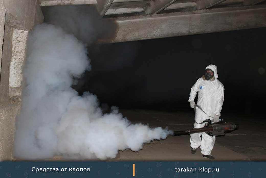 Уничтожение насекомых на складе